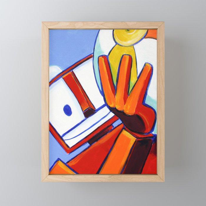 Beachballer Framed Mini Art Print