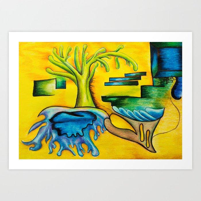 Levels - Mazuir Ross Art Print
