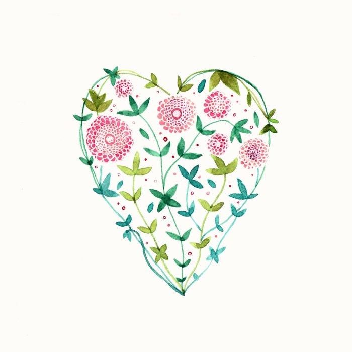 garden heart Duvet Cover