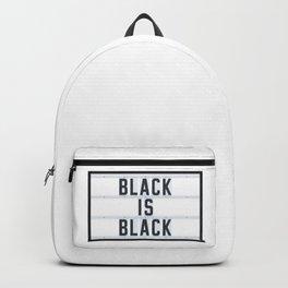 BLACK IS BLACK - Lightbox Backpack