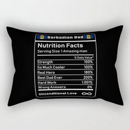 Barbadian Dad Dad Nutrition Facts Rectangular Pillow