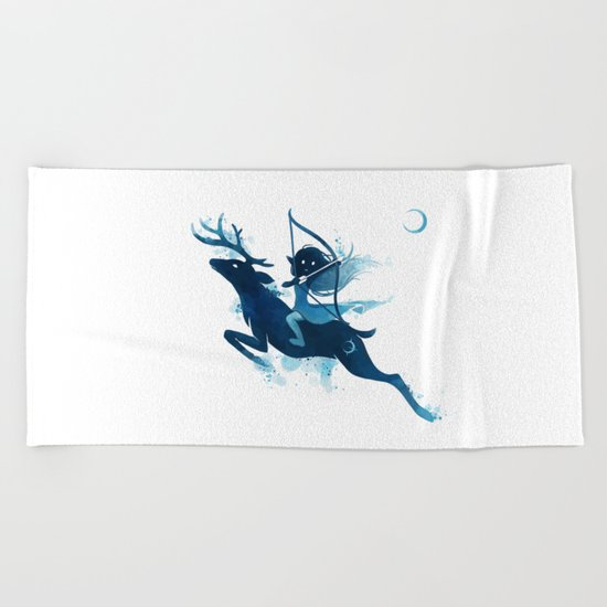 Elf Archer Beach Towel