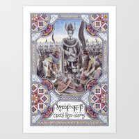 gondor Art Prints featuring Hyarmendacil I of Gondor by Matěj Čadil