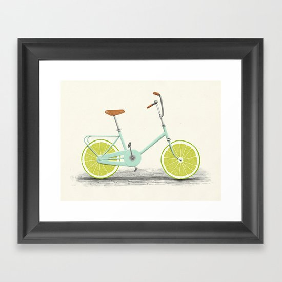 Acid (Blue) Framed Art Print