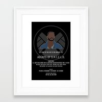agents of shield Framed Art Prints featuring Agents of S.H.I.E.L.D. - Trip by MacGuffin Designs