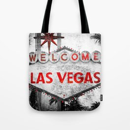 Fabulous Las Vegas Sign Scratched Aged Tote Bag