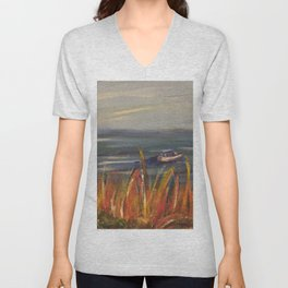 Boats on the Water Unisex V-Neck