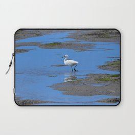egret in brown and blue Laptop Sleeve