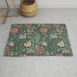 William Morris Compton Floral Art Nouveau Rug