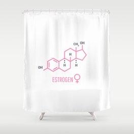 Sex hormones molecular formula: Estrogen Hormones symbol. Shower Curtain