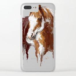 Paint Horse. Clear iPhone Case