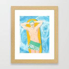 Le Baigneur Framed Art Print