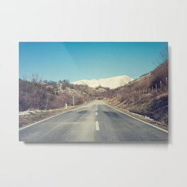 Road with mountain Metal Print