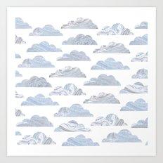 Cute cloud Art Print