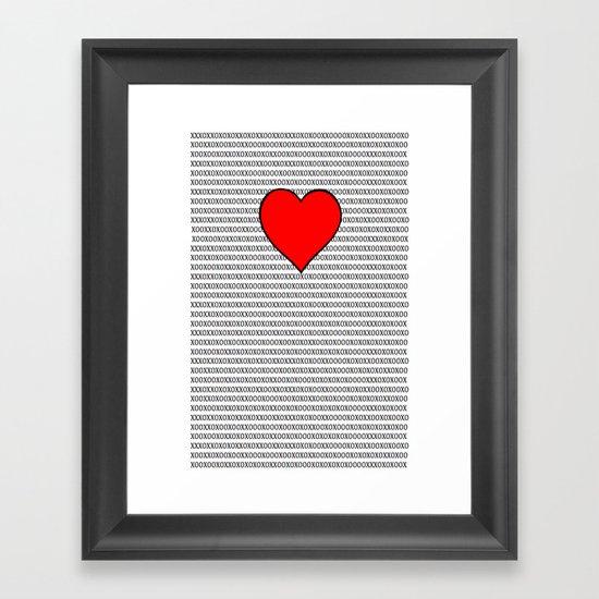 Symbols of Love Framed Art Print