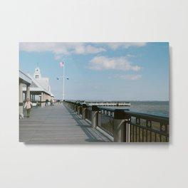 Charleston Pier Metal Print