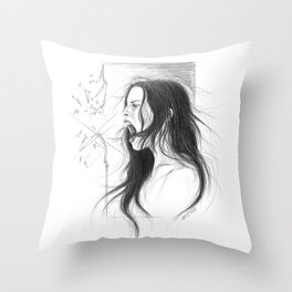 Pain into anger Throw Pillow