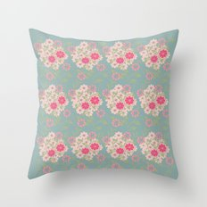 Flower pad Throw Pillow