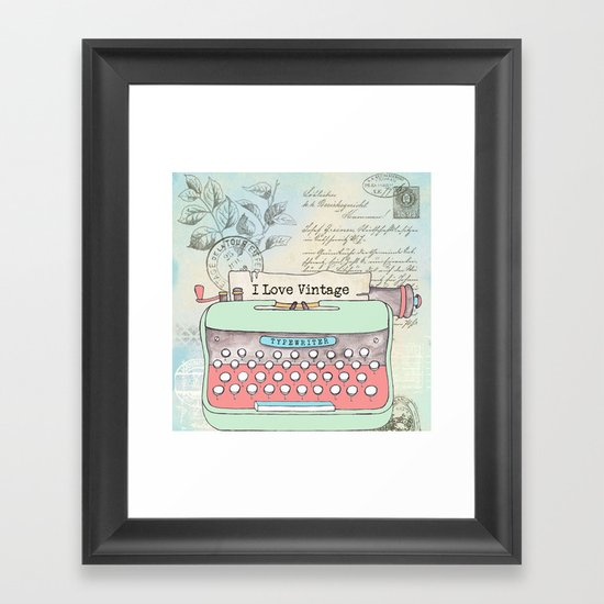 Typewriter #2 Framed Art Print