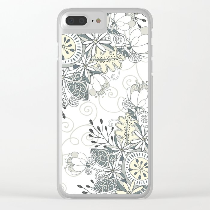 Blooming Soul Clear iPhone Case