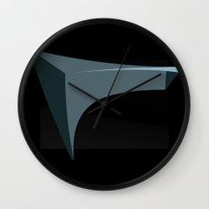 Deep Black Wall Clock