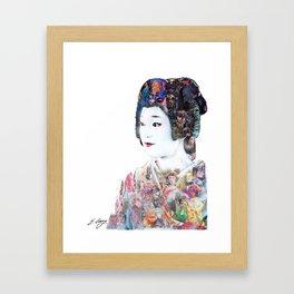 The Layering of the komono Framed Art Print