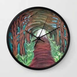 Light at the end of the tunnel Wall Clock