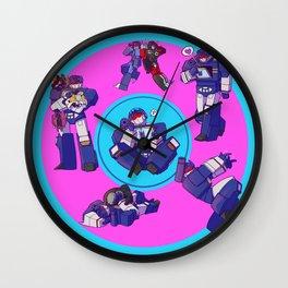 Soundwaves - Crystals Wall Clock