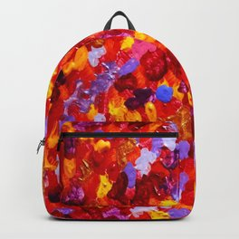 Abstract Red 002 Backpack