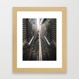 Mirror City Framed Art Print