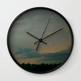 Aqua Blu Dusk Wall Clock