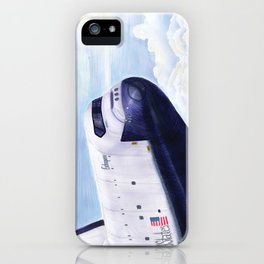 Enterprise Through The Clouds - Drawing iPhone Case