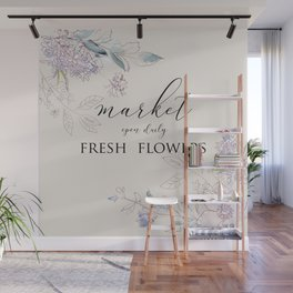 fresh flower market Wall Mural