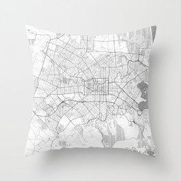 Christchurch Map Line Throw Pillow