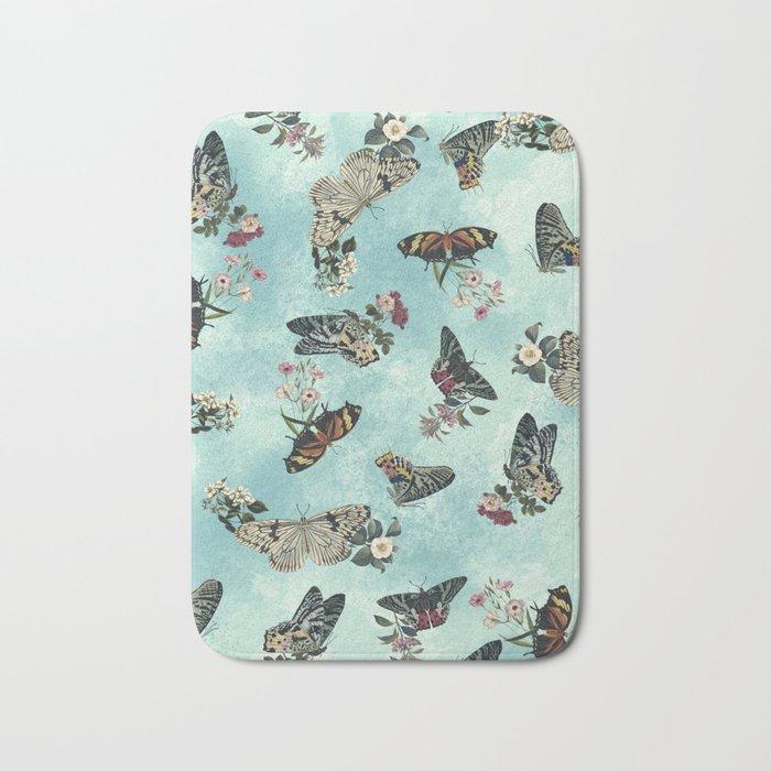 Butterfly Floral Bath Mat