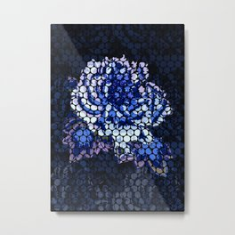 Porcelain Blue Rose Metal Print