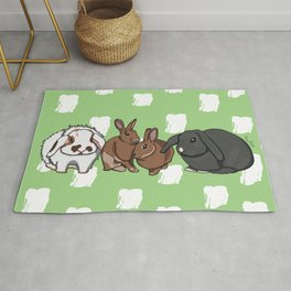 Mopsey Cottontail Tuppence Florin Rug