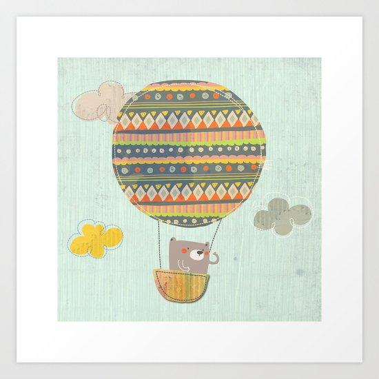 Bear in the air Art Print
