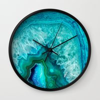 geode Wall Clocks featuring Geode by Jenna Davis Designs