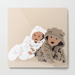 Teddy Bear Babies Metal Print