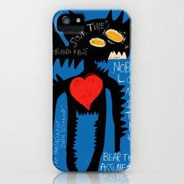 Blue Man Jazz iPhone Case