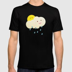 Raining day Mens Fitted Tee Black MEDIUM