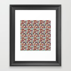 Strawberry Pattern Framed Art Print