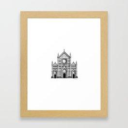Basilica Di Santa Croce - Firenze Framed Art Print