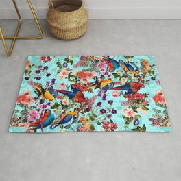 Floral and Birds XI Rug