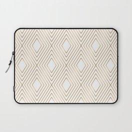 Elegant Geometric Gold Pattern Illustration Laptop Sleeve