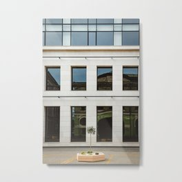 Modern city / Glass building / Subotica, Serbia, Europe Metal Print