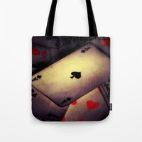 poker Tote Bags featuring Poker  by    Amy Anderson