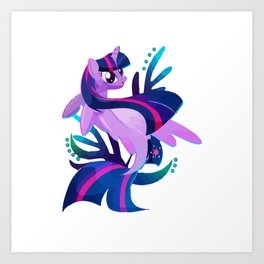 Seapony Twilight Sparkle Crewneck Art Print