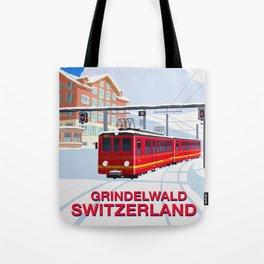 Grindelwald Ski Poster Tote Bag
